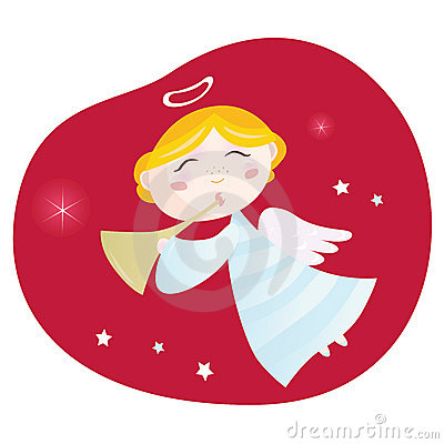 Free Christmas Angel Boy With Trumpet Stock Photos - 11945543