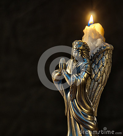 Free Christmas Angel Candle Royalty Free Stock Images - 36320549