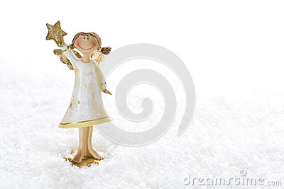 Christmas angel - isolated for a christmas card or religious bac