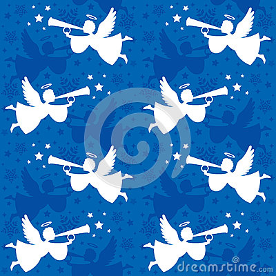 Free Christmas Angel Seamless Stock Photo - 49113370