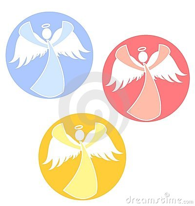 Christmas Angels Icons Circles