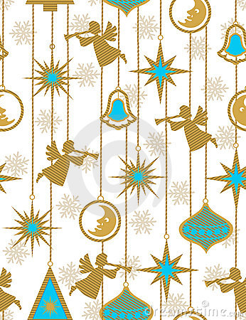 Christmas angels - seamless pattern