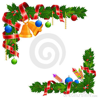 Christmas angle garland
