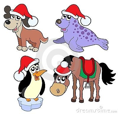 Christmas animals collection -