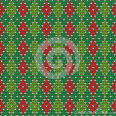 Free Christmas Argyle Background, Seamless Pattern Incl Royalty Free Stock Photo - 27608145