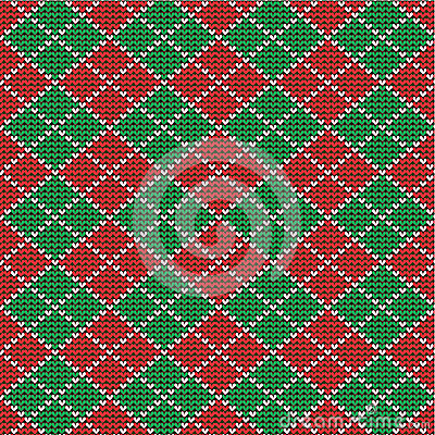 Free Christmas Argyle Background, Seamless Pattern Incl Stock Image - 27619721