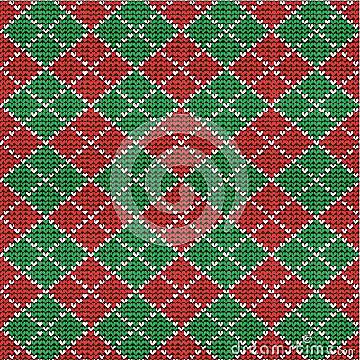 Free Christmas Argyle Background, Seamless Pattern Incl Stock Image - 27619721