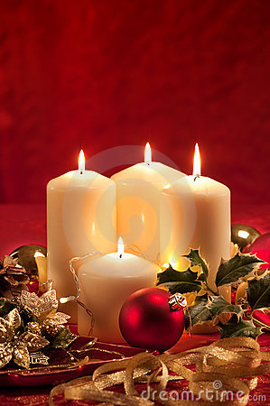 Free Christmas Atmosphere - Candles Royalty Free Stock Images - 21974359