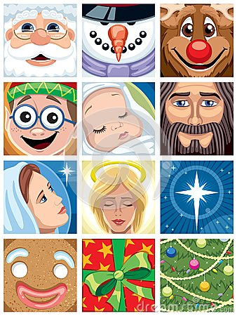 Free Christmas Avatars Royalty Free Stock Photography - 25890187