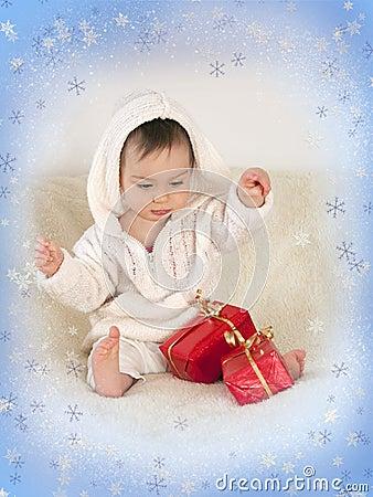 Free Christmas Baby Stock Image - 12121551