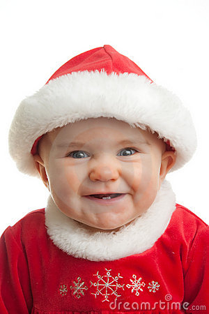 Free Christmas Baby Stock Image - 12273341