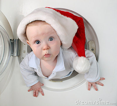 Free Christmas Baby From Washer Royalty Free Stock Images - 1705449