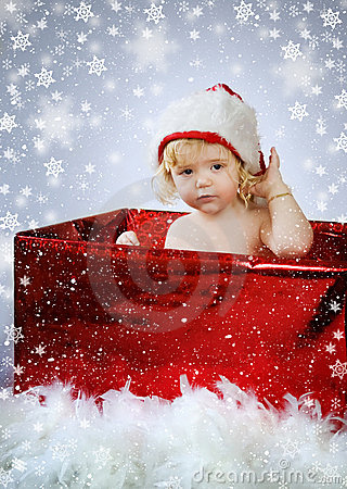 Free Christmas Baby Gift Royalty Free Stock Photos - 11999848