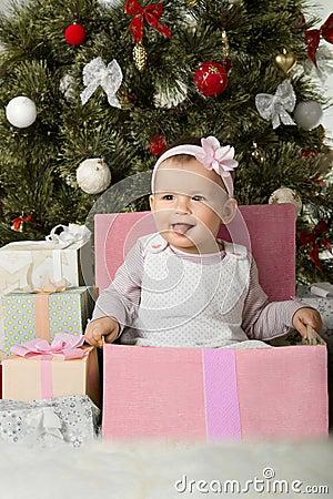 Christmas and baby girl