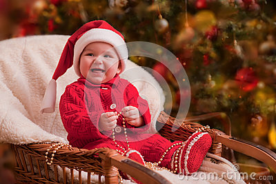 Christmas baby portrait