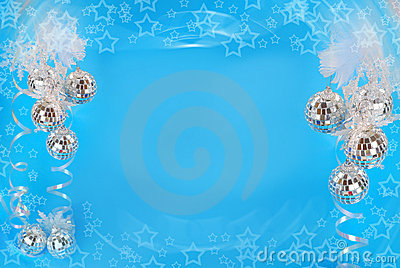 Christmas background in blue color
