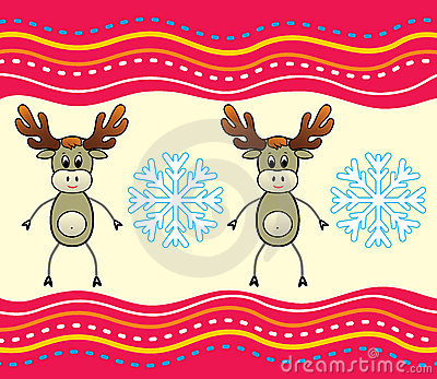 Christmas background with a deer.