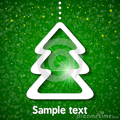 Christmas background with fir-tree.