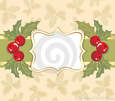 Christmas background with a frame.