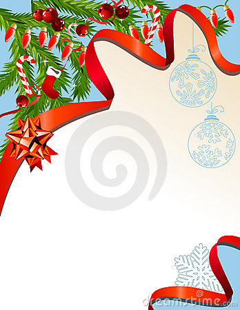 Christmas background with garland