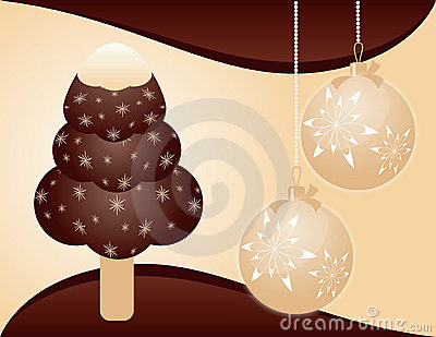 Christmas background with ice-cream