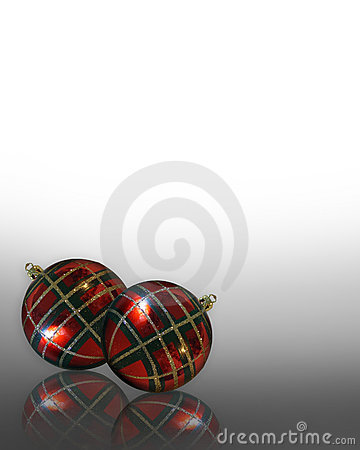 Christmas Background ornaments Plaid