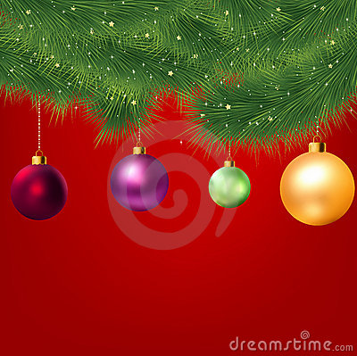 Christmas background with tree. EPS 8