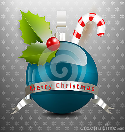 Christmas background with various decors