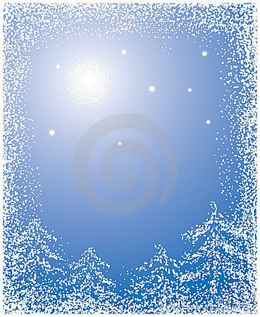 Free Christmas Background With A Snow, Vector Stock Photo - 1491340