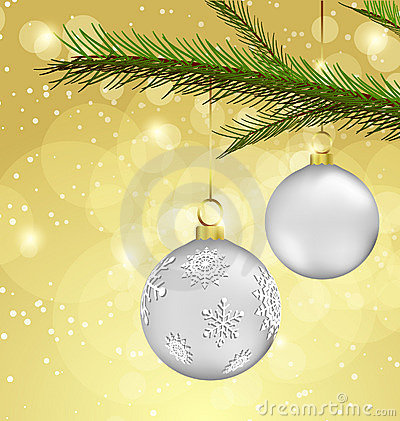Free Christmas Background With Ball Decorations Royalty Free Stock Images - 16724609