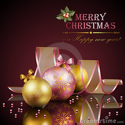 Free Christmas Background With Balls Stock Image - 22434421