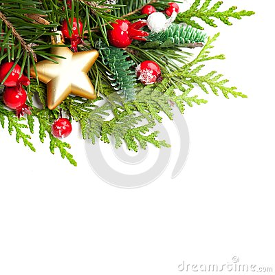 Free Christmas Background With Red Holly Berries Stock Images - 104039294