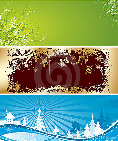 Christmas backgrounds, vector