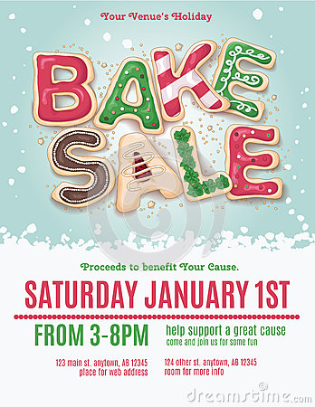 Free Christmas Bake Sale Flyer Stock Images - 62256804