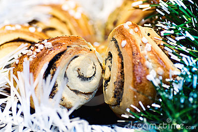 Christmas baked rolls