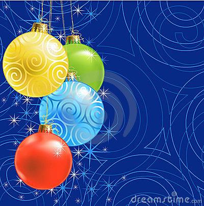 Christmas ball /  background
