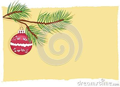 Christmas ball card vector