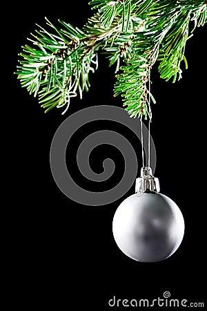 Christmas ball. Decoration xmas tree