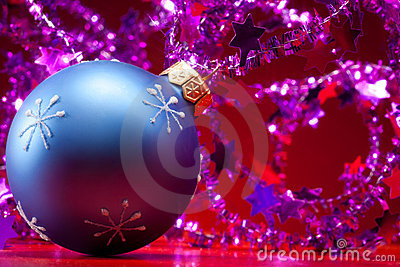 Christmas ball and decorations
