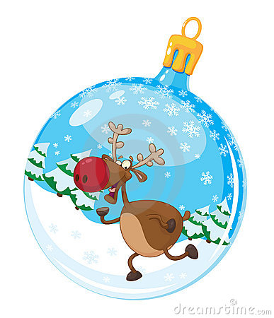 Christmas ball with deer