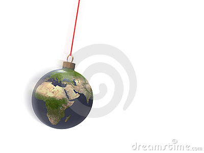 Christmas ball earth