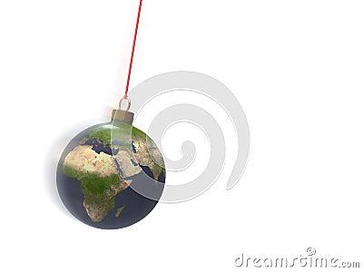 Christmas ball earth