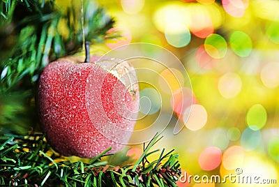 Christmas ball with fir tree