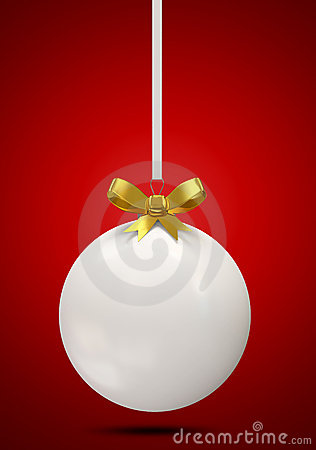 Christmas Ball with Golden Bow