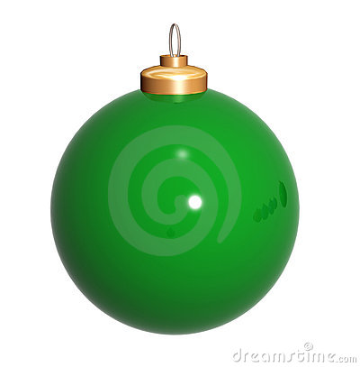 Christmas ball in green