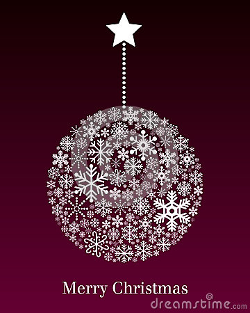 Free Christmas Ball Greeting Card Royalty Free Stock Photography - 26933577