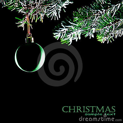 Christmas ball isolated. Decoration xmas tree