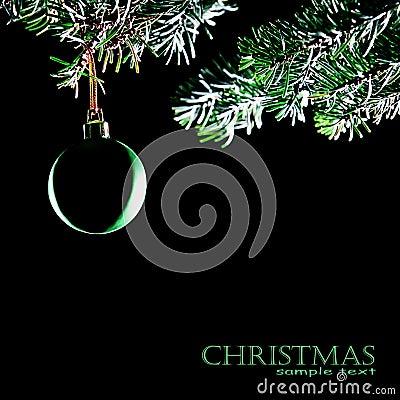 Christmas ball isolated. Decoration xmas tree