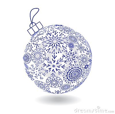 Christmas Ball Of Made Snowflakes