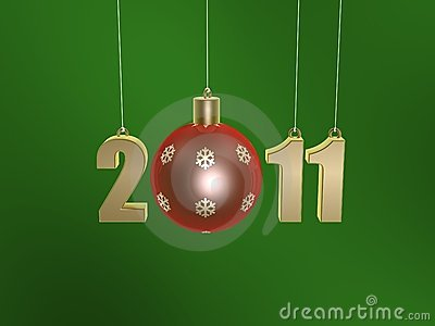 Christmas ball of new year 2011